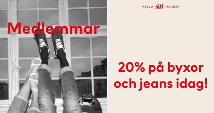 H&M byxor och jeans