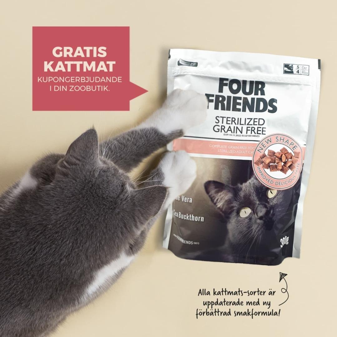 gratis four friends kattmat
